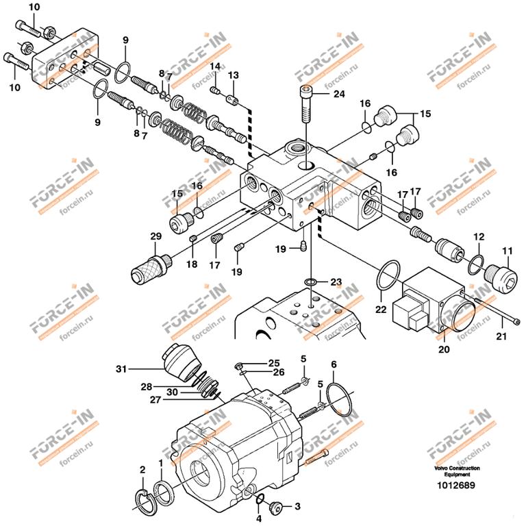 Гидронасос Volvo 14609472 (HPR135-02R Linde Hydraulics)