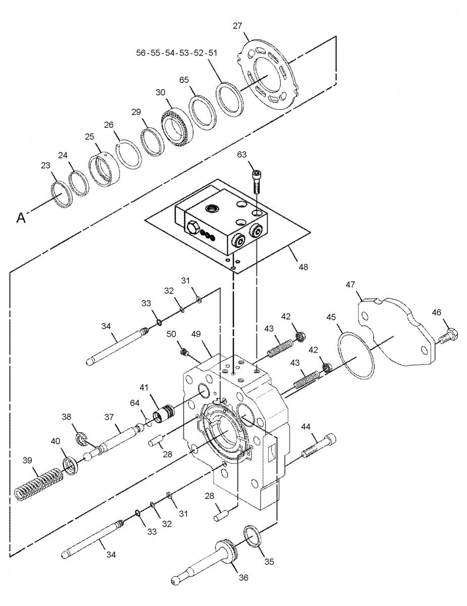 Гидронасос Caterpillar 162-0324 CAT (HPR105-02R Linde Hydraulics)