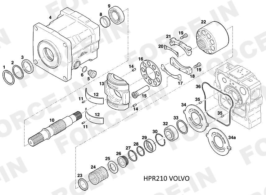 Уплотнения 50x55x4   HPR210